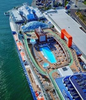 Celebrity Edge top deck aerial