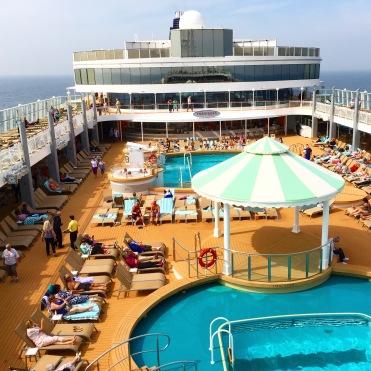 Norwegian Jade top deck pool