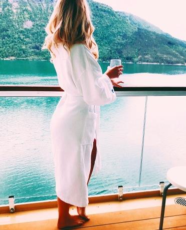 Norwegian Jade balcony view