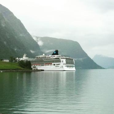 Norwegian Jade docked in Norway