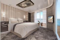 Norwegian Encore - The Haven Deluxe Owner's Suite - Bedroom